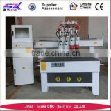 cnc 4 axis router 3d slotting head milling machine for glass/wood/Acrylic/leather wood cnc router machiney