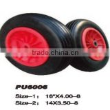 PU Foam wheels manufactures for hand truck wheel 16'' x 4.00-8 & 14'' x 3.50-8