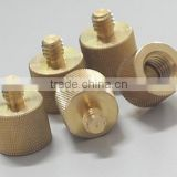 "Brass thinkforwards screws camera lamp holder tripod adapters 1/4""-20 female to 3/8""-16 male adaptors"