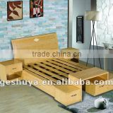 LB-JX5006 Bamboo veneer bedroom furniture beds                                                                         Quality Choice