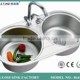 luxury series silver kitchen sink overflow 8645A