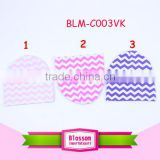 Wholesale OEM service blank spring winter chevron beanies hats organic 95% cotton and 5% spandex beanies with logo embroidery