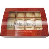 Wooden Finish Display Storage Case Box Glossy Watch Case Wholesale