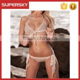 C645 New 2016 sexy swimwear women crochet swimsuit sexy summer woman sport style bikini swimwear