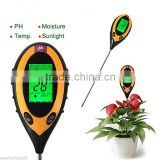 4-in-1 Soil Moisture Sensor , Soil Moisture Monitor, Soil PH Value, Soil Temperature and Sunlight Intensity Tester, Hydrome