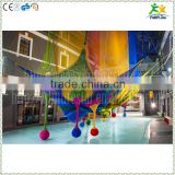 2016 newest colorful nylon rope hand crocheted kids indoor amusement park equipment                                                                         Quality Choice