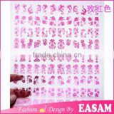 108 one sheet pink nail foil sticker 3D Flower nail decoration foil paper