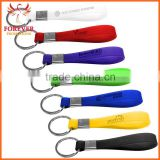 Wholesale Promos Cheap Souvenir Custom Silicon Strap Keychain Ring                                                                         Quality Choice