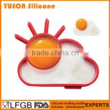 Food grade Cute Sunny cloud silicone egg mold fried egg mold egg ring                                                                         Quality Choice