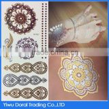 Fashionable Hot Sale Tattoo Sticker Non-toxic Custom Metallic Tattoo Temporary Body Art DIY