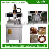HS4040 high quality china desktop woodworking wood carving mini 5 axis cnc router machine