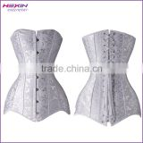 Plus Size Jacquard Steel Boned Overbust Long line Corset Top                                                                         Quality Choice