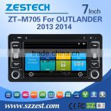 mini car dvd player for mitsubishi OUTLANDER 2013 2014 with Rear View Camera GPS BT TV Radio RDS