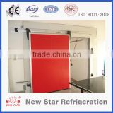 Aluminum track, single-parting, bi-parting single track manual cold storage room sliding door