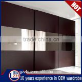 Home bedroom furniture wooden wardrobe designs modern cabinet closet sliding mirror wardrobe doors