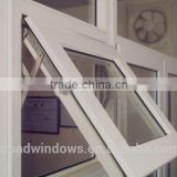 Aluminum double glazing top-hung casement opening outwards, top hinged windows