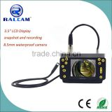 "3.5"" color LCD TFT with high definition 640 x 480 VGA pixel resolution 8.5mm video inspection camera"
