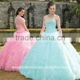 Style XZ-pd1266 Top beautiful sweetheart light pink\blue ball gown quinceanera dresses