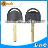 abs black transponder key case with uncut HU100 blade without logo for opel astra vectra zafira