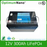 12V 300Ah LiFePO4 battery for inflatable boat with electric motor