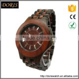 Wood face watch,waterproof hand made wood watch Japan movt quartz watches