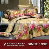 luxury rose pattern reactive printed 120gsm bed sheet set 4 pieces bedding sets BRAND NEW