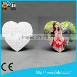 Factory price cube sublimation puzzle,magnetic puzzle for kids,heart shape jigsaw puzzle