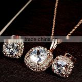 China Supplier Imitation Costume Jewelry Crystal Wedding Jewelry Set