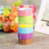 Wholesale YIWU FACTORY 1.5cm x 10m Polka Dot Styles Washi Tape Scrapbook Decoration Craft Kit