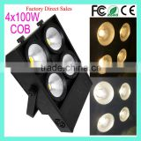 China Factory Price 3200K-6500K Warm/Cool White 2in1 4-Eye 4x100W COB LED Matrix Blinder Stage Light