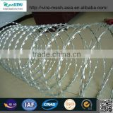 razor barbed blade concertina wire military use factory from Anping Sanxing Wire Mesh Factory