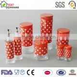 Good quality cheap glass oil vinegar bottle pasta storage jar set