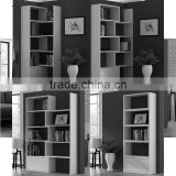 2016 new 4-Tier extendable bookshelf system MDF wood bookcase with drawer organizer from living room movable bookshelf