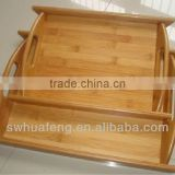 2016 Fashion bamboo dinner and snack tray