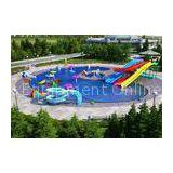 Commercial aqua Park Equipment , cartoon Swimming Pool Slides