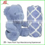 Wholesale Plush Stuffed Animal Teddy Bear and Blanket 2 Peice Gift Set for Kids Children