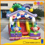 AOQI giant wonderful clown slide /inflatable slides with free EN 14960