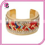 Girl's fashion cuff bracelet with colorful stone