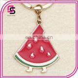 2017 Fashionable keyrings, hotselling watermelan shaped keyrings, popular keyrings