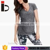 EU Standard Cotton 4 way stretch soft fabric meternity t shirt