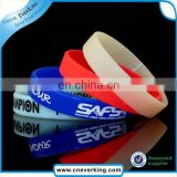 Fashion charm bulk custom bracelet silicone slap bracelet wholesale