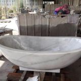 Guangxi White Marble Free Standing Bathtubs, China White Marble Bathtub