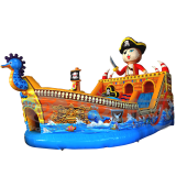 Cheap inflatable bouncer slide ,inflatable pirate ship bouncer for sale