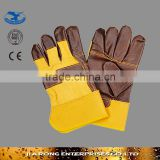 Factory Supply Industrial Safety Gloves Faux Leather Gloves LG024