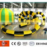 Plato Pvc Tarpaulin Inflatable Air Race Track , Durable Giant Inflatable Air Track for Car Racing