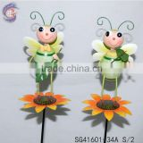 Garden decorations of metal dragonfly stakes with different style