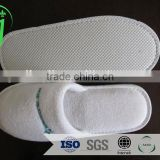 washable white color terry towel hotel slippers / hoel slippers /washable soft sole slippers