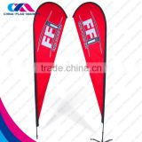 custom outdoor brand promotion red flag on beach