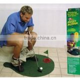 Best price Potty Putter Toilet Golf Game Mini Golf Set Toilet Golf Putting Green 65pcs