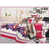 Disposable hand embroidery hotel polyester bed sheet